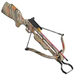 hunting strung autumn camo crossbow