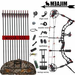 KAIMEI QIN 30-70lbs Compound Bow And Arrow Set Shooting Hunt