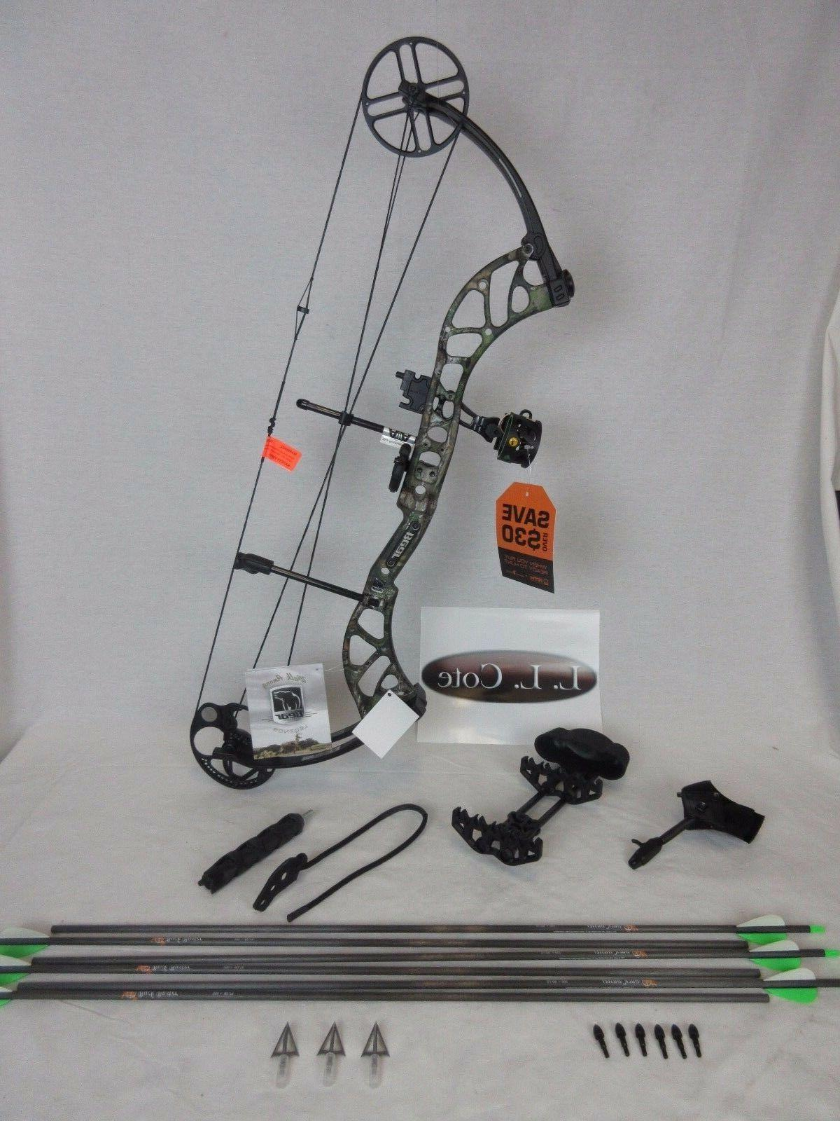 New Bear Archery Wild Single Cam 70# RH Bow Realtree Xtra Ca