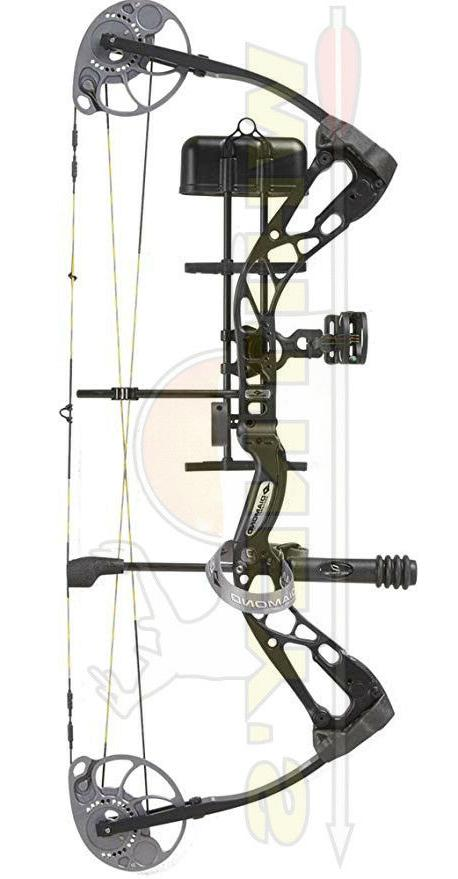 Diamond Archery 2016 Edge Sb-1 Bow Package Black Rh 15-30 7-