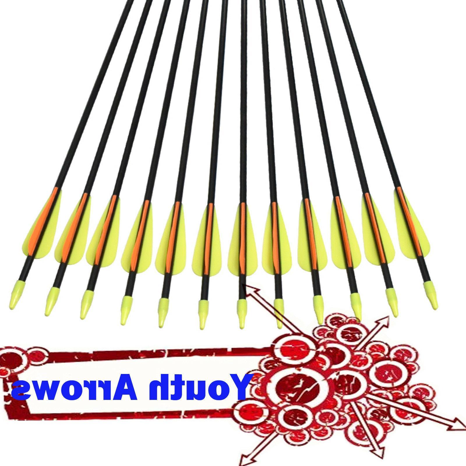 26 fiberglass arrows compound bow youth archery