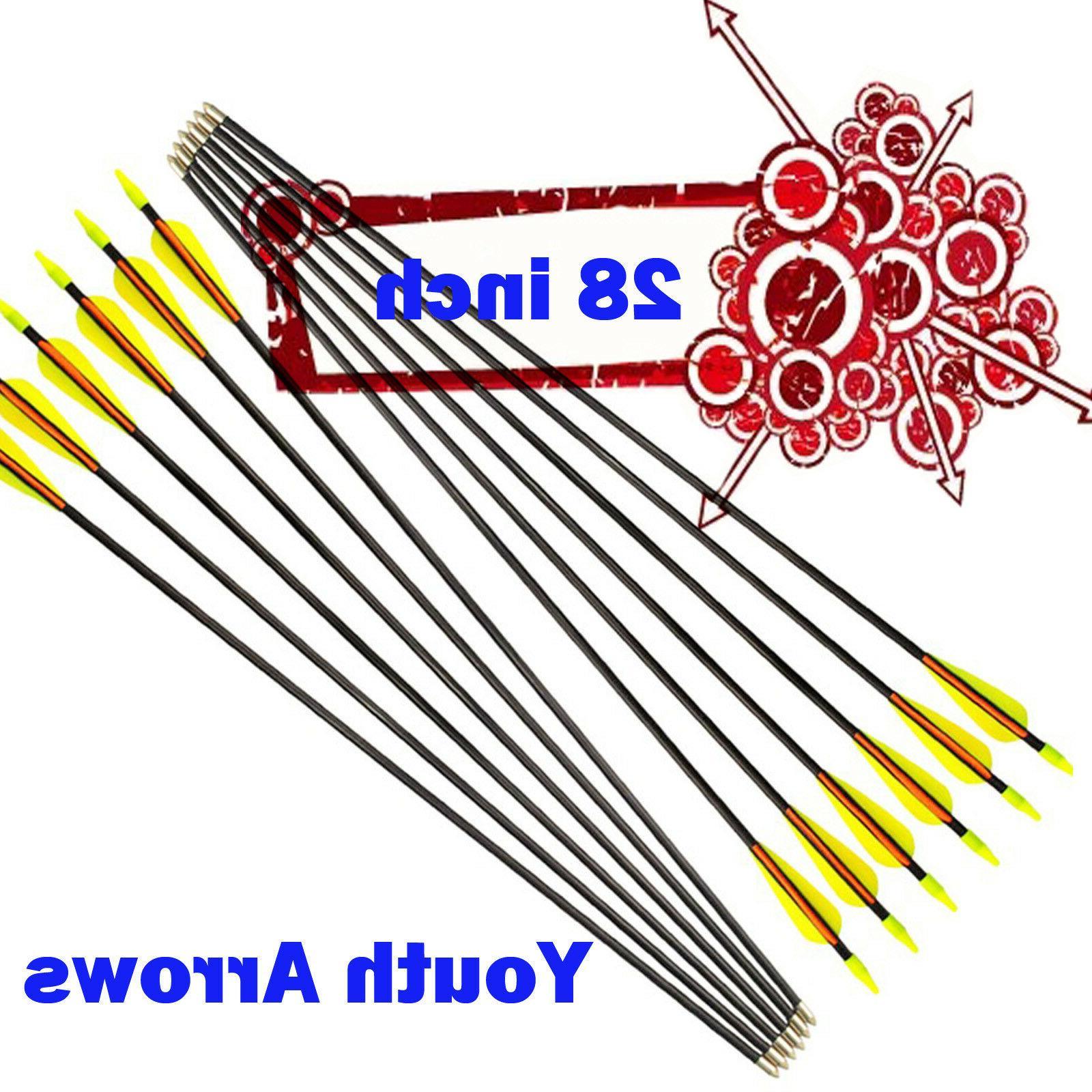 28 fiberglass arrows compound bow youth archery