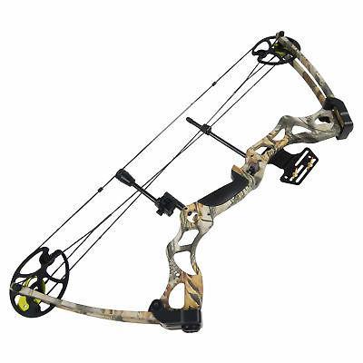 40-70 Black / Green Camo Archery Hunting Compound Bow 75
