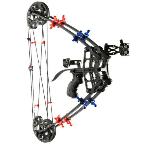 40lbs archery hunting fishing compound bow slingshot