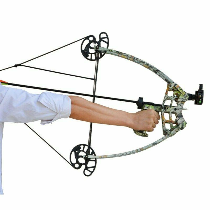 40lbs Triangle Compound Bow Left Hand Hunting Shoot Target