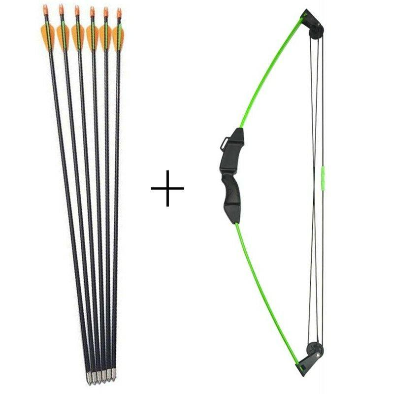 archery 12lbs children compound bow with 6