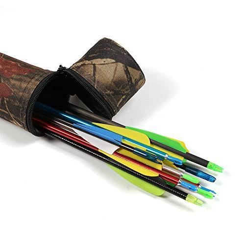HBG Camouflage Tube Hip Arrow With Recurve Bow Hunting Target,Can