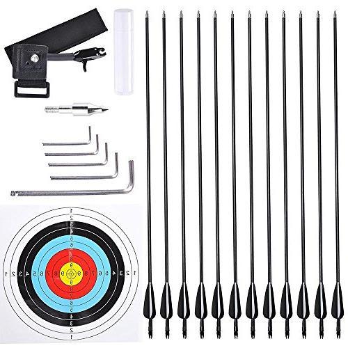 Archery Bow Hand Set 12pcs Alloy Practicing
