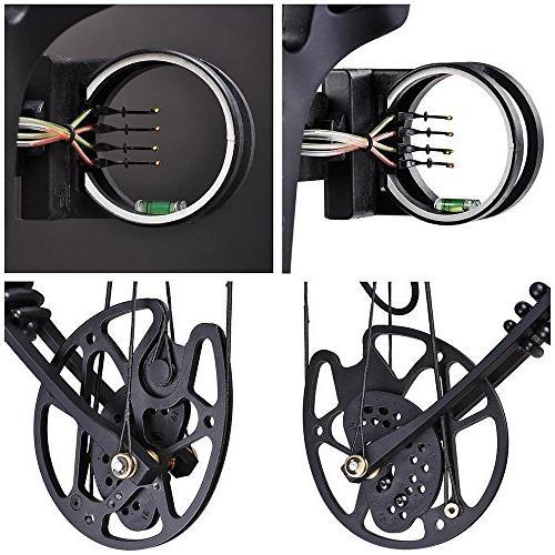 Archery Bow Right Hand Set 12pcs Carbon Arrows Alloy Fiberglass for Practicing