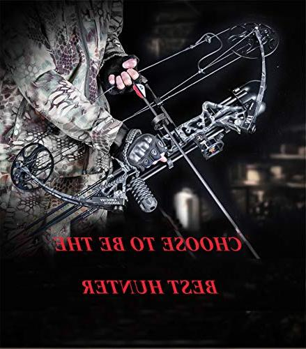 """Compound Archery with Accessories for Adults,Right Handed,19-30"""" Draw Weight,IBO from USA"""