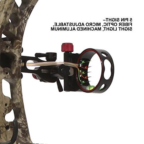 Velocity Archery Hunting Compound Bow, up to FPS, Kit