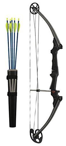 Genesis Bows GenK-12248 Archery Righ Hand Bow Set, 15-30-Inc