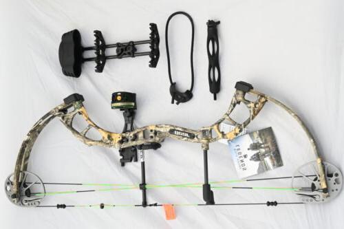 Bear Archery Cruzer RTH 5-70# Right Hand Bow Pkg Edge Camo A