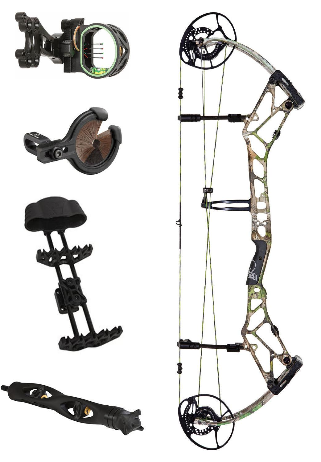 NEW Bear Camo Right 55-70lb Compound Bow Hunting Package