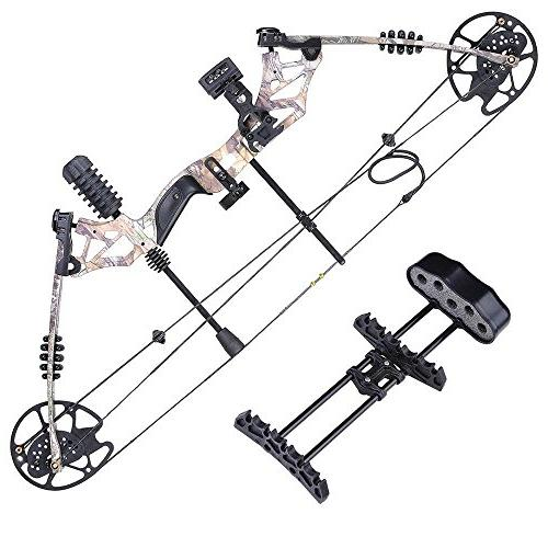 Camouflage Archery Compound Right Hand Carbon Arrows Aluminum Fiberglass Hunting Practicing