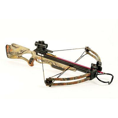 175 lb Camouflage Compound Crossbow Bow +Red Dot Scope +All