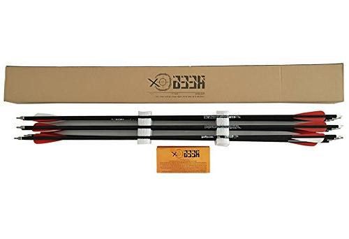 REEGOX Carbon Arrow inch Practice Arrows with for Bow