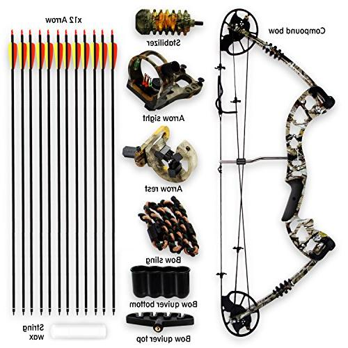 SereneLife Complete & Adjustable Draw lbs 320 fps Handed