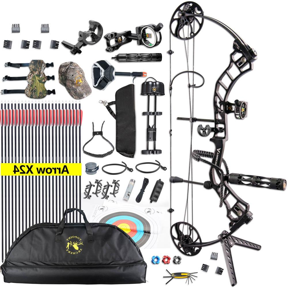Complete <font><b>Compound</b></font> <font><b>Package</b></font> Adjustable Kit Archery Hunting Equipment