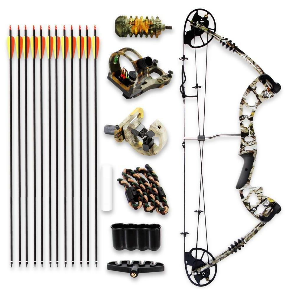 SereneLife Complete Bow Adjustable Draw Weight lbs Max 320 fps - Right Handed