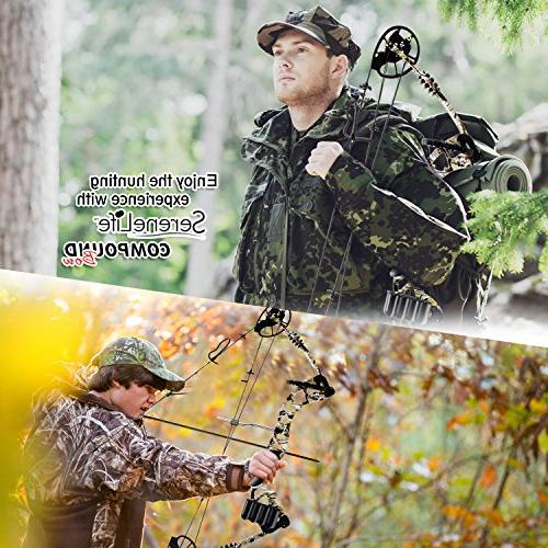 SereneLife Bow, Adjustable Draw Weight 30-70 with Max Speed fps - Right