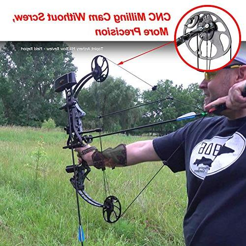 """XQMART Compound Bow for Adults,with Hunting Handed,19-30"""" Draw Length:15-70Lbs Weight,IBO 320fps"""