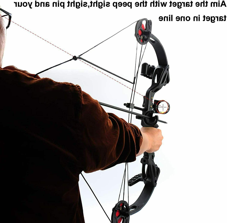 "Teens Hand Bow Kit W/30""Archery Arrow Target"