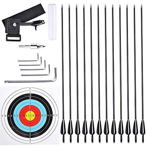 AW Compound Hand Kit 12pcs Arrow Adjustable 20 70lbs Set