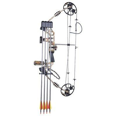 Pro Compound Hand Bow Kit w/ Arrow Adjustable 20 Archery Camo