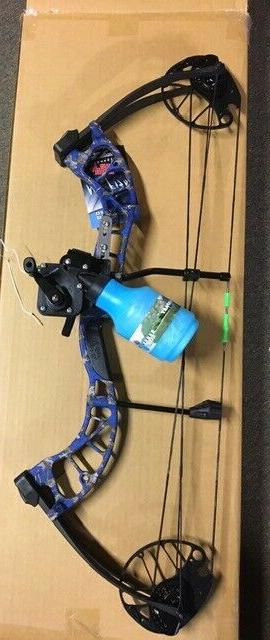 d3 blue bowfishing compound bow reel rest