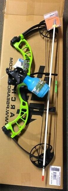 PSE D3 GREEN  Bowfishing Compound Bow,REST REEL FINGERS ARRO