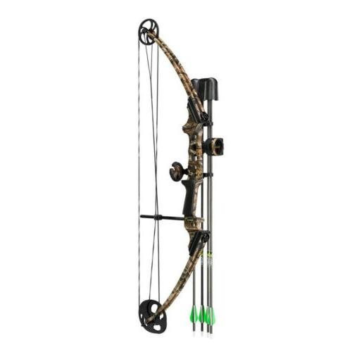 GEN-X Compound Bow Kit Right Handed Lost Camo w/ Rest Sight