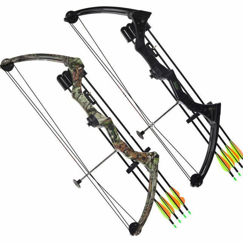 JH7474 20lbs Compound Bow Archery Fishing Black/Camo