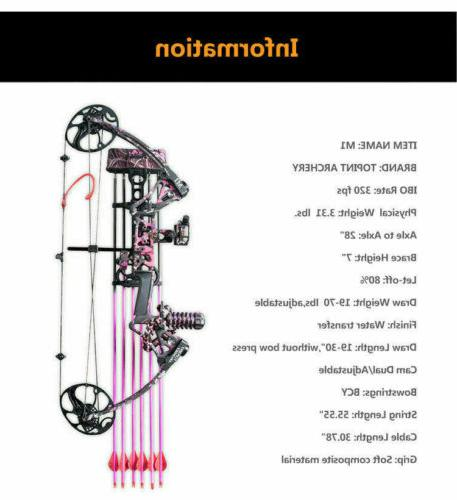 Topoint M1 Women Compound Bow Kit Archery with Pink
