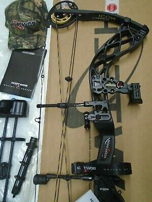 @NEW@ Bowtech Carbon Icon Black Compound Bow Package! LH