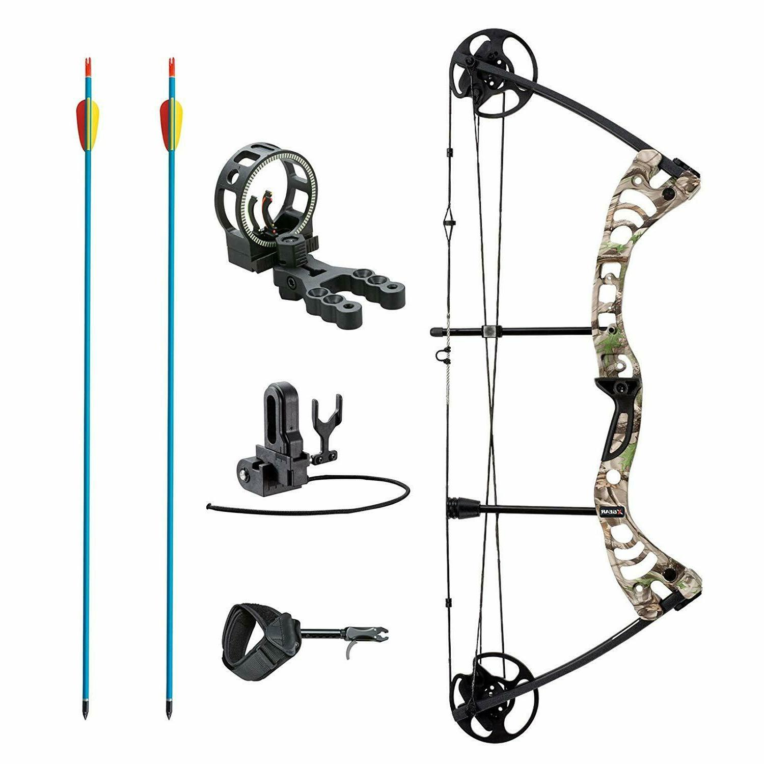 outdoors compound bow kit 30 55 lbs