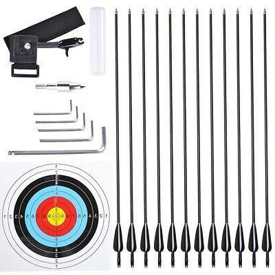 Pro Compound Bow Kit w/ Arrow Adjustable to 70lbs Archery Set