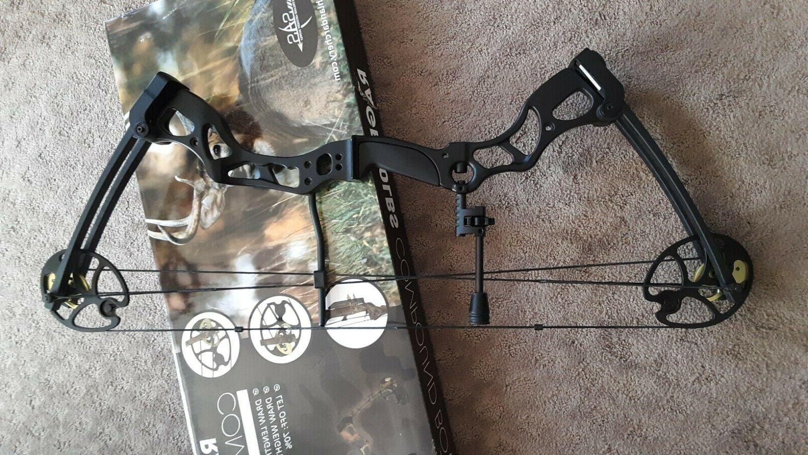 rage 70 lbs 29compound bow black