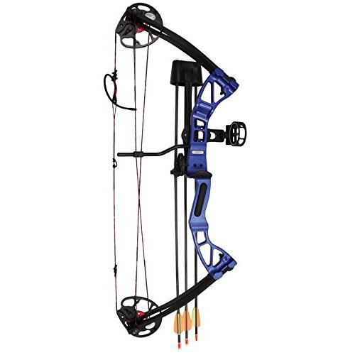 Adjustable Limb Compound Bow Package 3-pin Sight, Arrow and