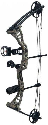 "SAS Scorpii 55 Lb 32"" Compound Bow Package 260 FPS - Camo"
