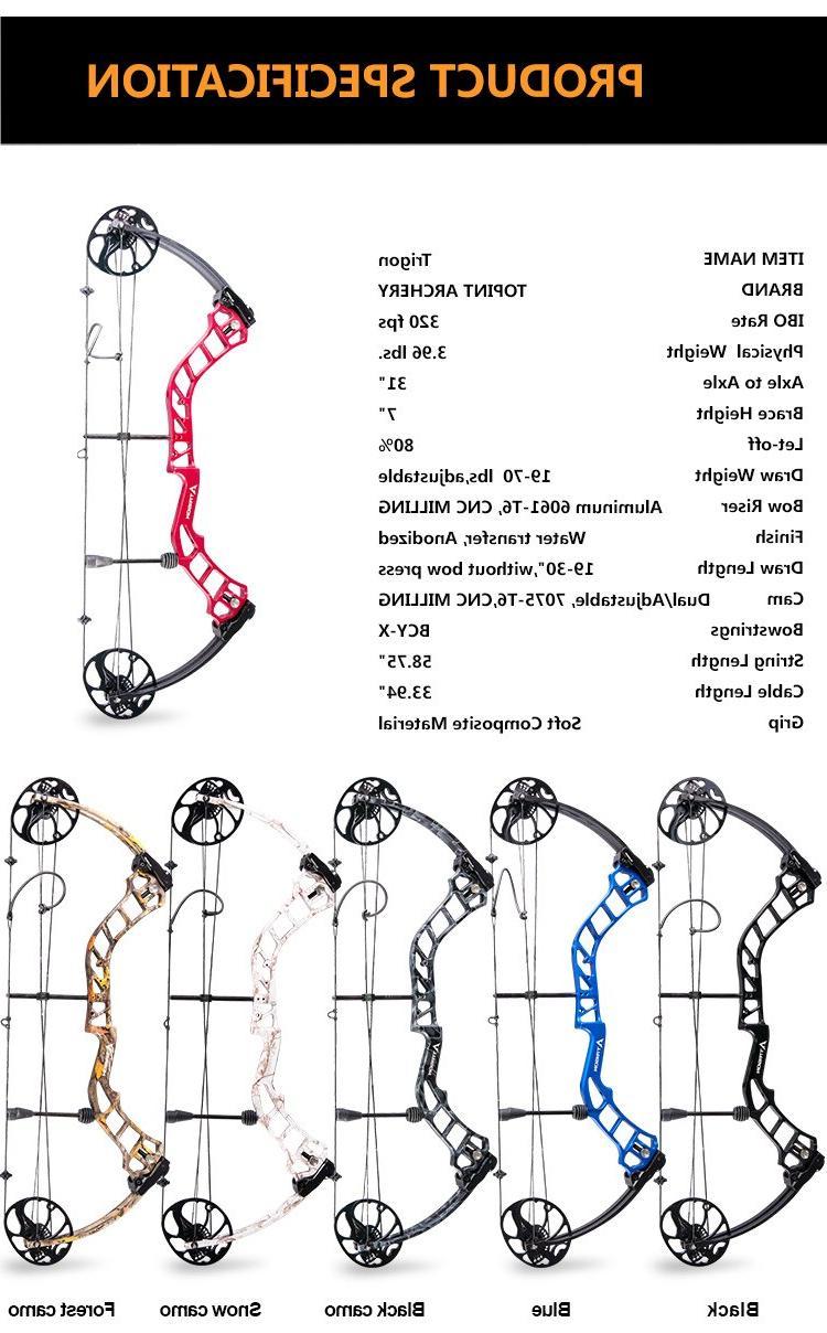 Ship Archery Trigon <font><b>Compound</b></font> Riser,USA Composites Limb,BCY String
