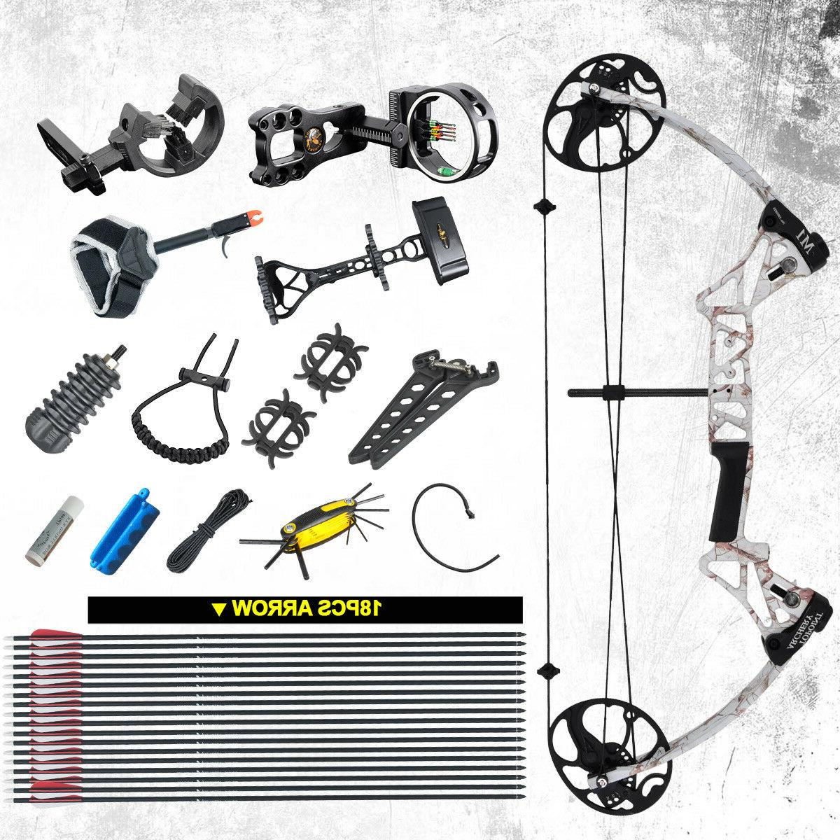 snow camo compound bow package m1 19