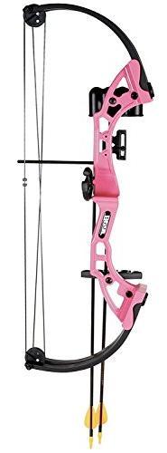 Bear Archery Youth Archery Bow, Pink Brave Girls Boys Beginn