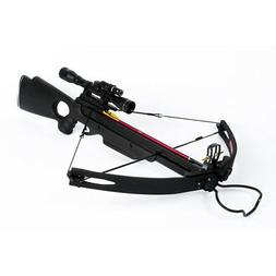 150 lb lbs Black Compound Hunting Crossbow Archery Bow +2 Ar