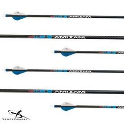 Carbon Express Maxima BLU RZ Fletched Carbon Arrows with RED