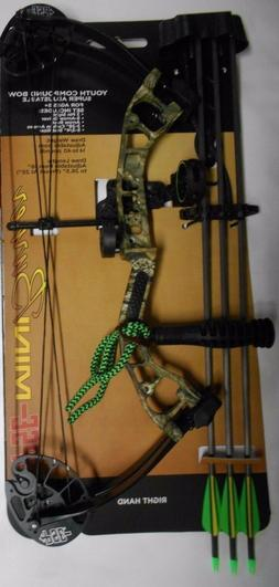 @NEW@ PSE Mini Burner Youth Camo Compound Bow Package! RH 16