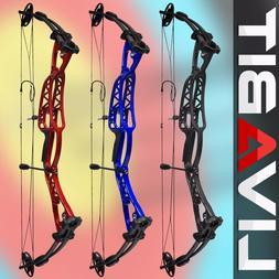 NEW Morningedge Archery Compound Bow Set 40-60lbs RH LH Ambi