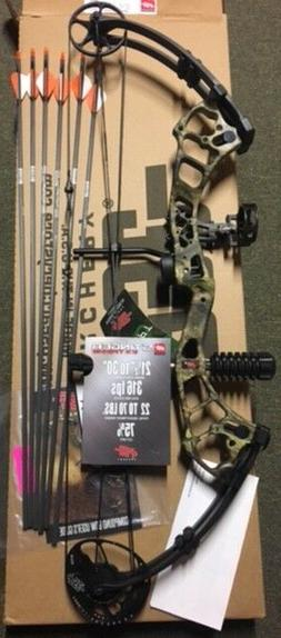 "NEW PSE STINGER COUNTRY CAMO/BLACK, 21""-30"" DL,22/70LB. Grea"
