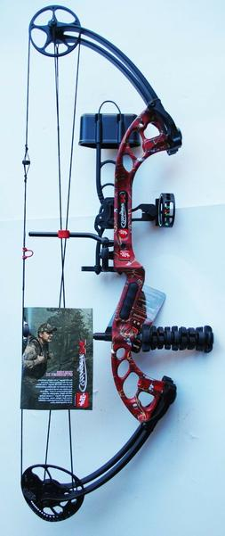 New PSE Stinger X RTS 70# RH Compound Bow Package Red Skullw