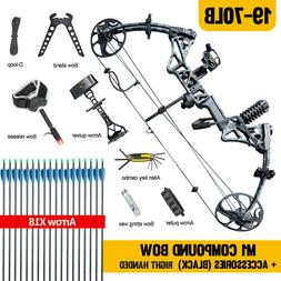 """New Topoint M1 Compound Bow 19-30""""/19-70Lbs Right Hand Hunti"""